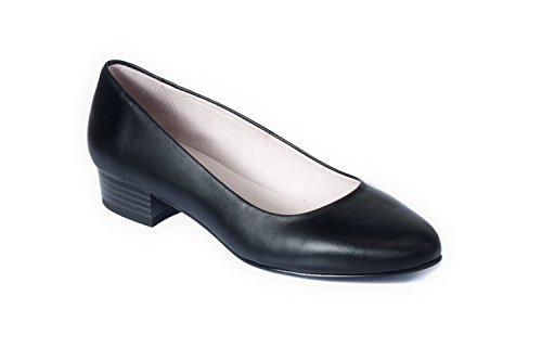 zeddea Deva Negro - Zapatos de azafata cómodos para Mujer -Talla 41