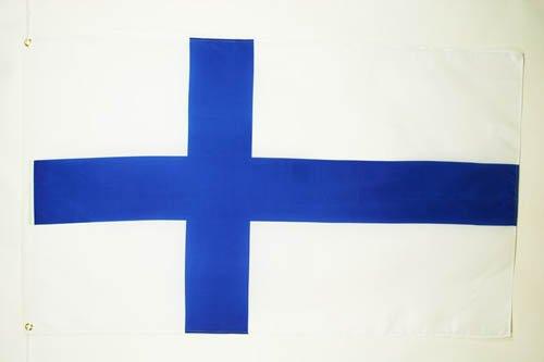 AZ FLAG Flagge FINNLAND 90x60cm - FINNISCHE Fahne 60 x 90 cm - flaggen Top Qualität