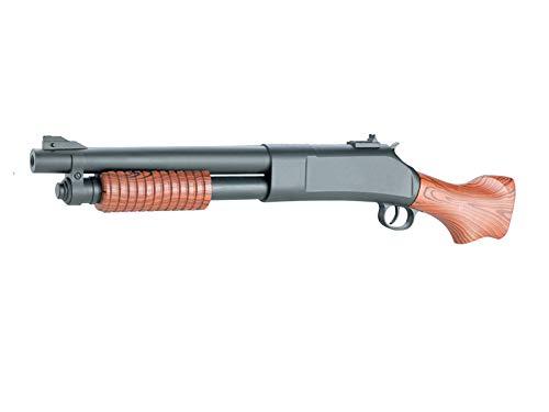 Rayline 188 Softair Pumpgun Gewehr (Manuell Federdruck), Material: ABS (Stoßfest), Nachbau im Maßstab 1:1, Länge: 58 cm, Gewicht: 280g, Kaliber: 6mm, Farbe: Schwarz - (unter 0,5 Joule - ab 14 Jahre)