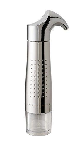 L'Atelier du Vin 095243-8 Vakuumpumpe Gard'vin ON/OFF Metall incl. 2 Verschlüsse ON/OFF