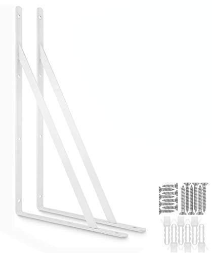Acrux7 - Soportes de estante para estantes flotantes de 15.7 x 9.8in con trípode triángulo de 90 grados, marco de soporte de pared...