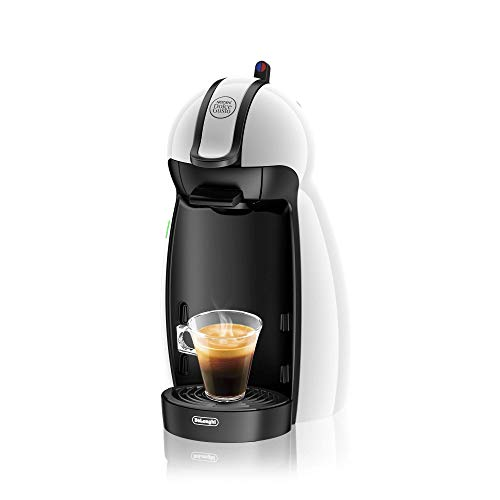DeLonghi EDG 100.W | NESCAFÉ Dolce Gusto Piccolo | Kapsel Kaffeemaschine |15 bar Pumpendruck für samtige Crema | Manuelle Wasserdosierung | 0,6 l Wassertank | Farbe Weiß