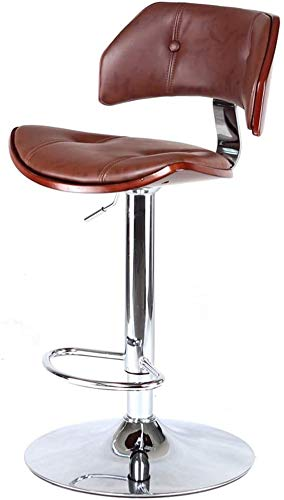 Bar stoel Company vergaderstoel massief hout eetkamer zetel woonkamer slaapkamer rust kruk Bank teller stoel massief houten Vintage roterende lift kinderstoel (Color : A, Size : 40CM*47CM*106CM)