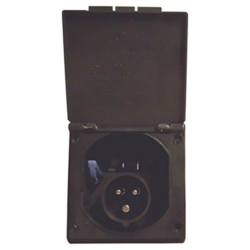 CEE Steckdose für Wohnmobil Caravan bzw. Wohnwagen * IP 44 * Farbe: Anthrazit * Einbaustecker Einbausteckdose Stromanschluss Einspeisungsstecker Einspeisungssteckdose Anschlussdose Außensteckdose