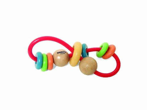 Manhattan Toy Jouet Embrasse Activité de dentition et hochet Skwinkle