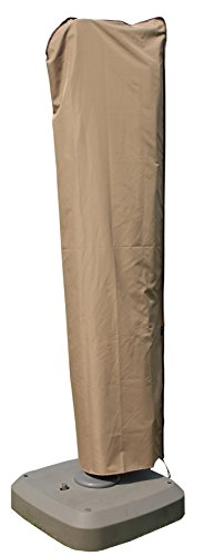 SORARA Cantilever Umbrella Cover, Offset Large Umbrella Cover for 9ft-11ft Umbrella with Push Rod, Wood Brown
