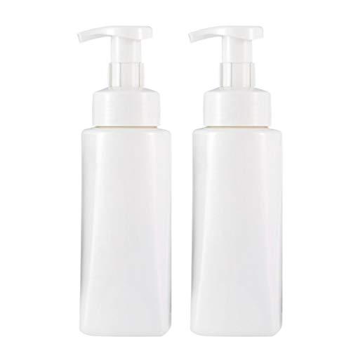 Cabilock 2 Stück Pumpflaschen Nachfüllbehälter Kunststoff Kosmetik Leere Flasche Mehrzweck für Emulsionsshampoo Oder Körperwäsche 400Ml (Weiß)