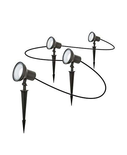 Osram LED Endura Garden Spot Garten-Leuchtenkette, für Außenanwendungen, Warmweiß, 4 Pylonen, Höhe: 33 cm