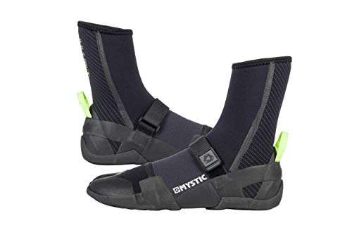 Mystic Watersports - Surf KiteSurf & Windsurfing Lightning Split Toe Wetsuit Boot Boots 5MM Zwart - Unisex