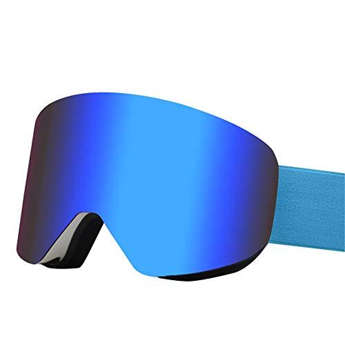 HHORD Gafas De Esquí para Hombres Y Mujeres - Anti-Niebla Nieve Gafas Reemplazables De La Lente Doble Protección UV, Ventilación Y Aire Ajustable Cinta De Cabeza para El Snowboard,D