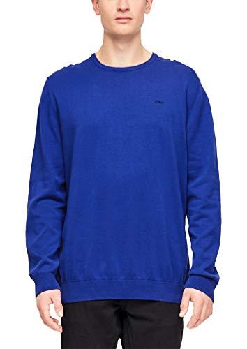 s.Oliver Big Size Herren 15.907.61.7008 Pullover, Blau (Brilliant Blue 5616), XXX-Large (Herstellergröße: 3XL)