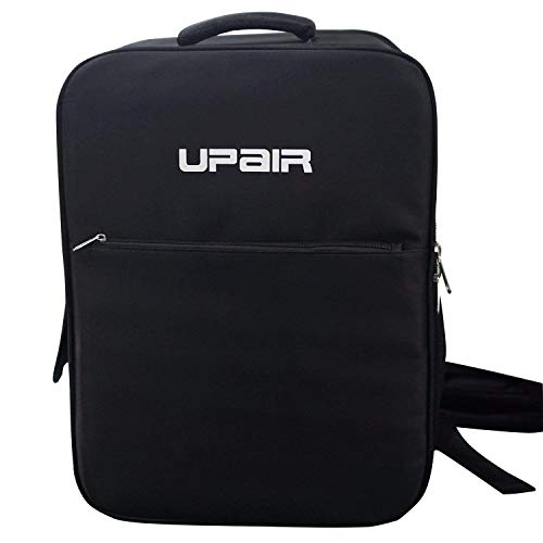 UPAIR Travel Drone Backpack, 18 Inch Durable Carrying Cases with Detachable PU Panel, Water Resistant Drone Bag for Quadcopter UPAIR One & UPAIR Two, Black