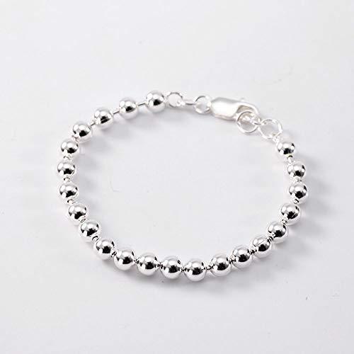 THTHT S925 Vintage zilveren armband voor dames en heren ronde parels glanzend eenvoudig en eenvoudig Chinese stijl creatieve persoonlijkheid charme mooi cadeau