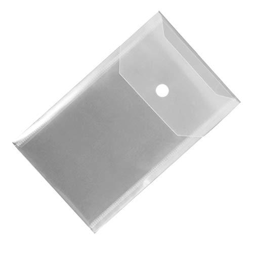 Bolsa de almacenamiento de papelería PP Tarjetas archivos de papel del borrador de lápiz caso del organizador de escritorio papelería almacenaje de la caja filtro, transparente, de tipo vertical