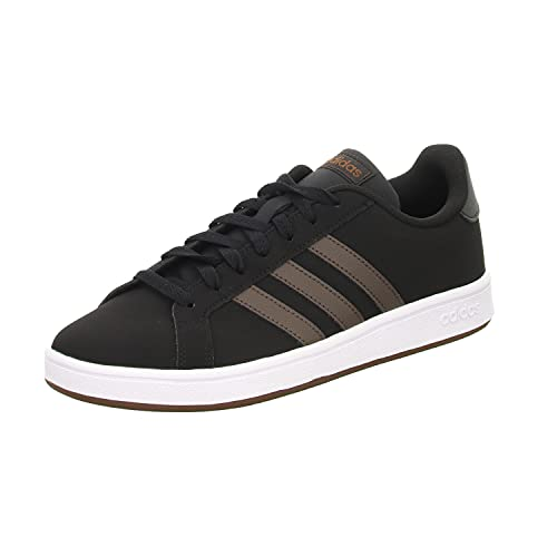 adidas Mens Grand Court Trainers Lace Up Casual Stripe Black UK 10 (44.7)