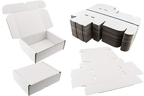 20x Weiße Verpackungsboxen, Geschenk, Hochzeit, Präsentation, Paket-Größe: 20 x 15 x 6cm