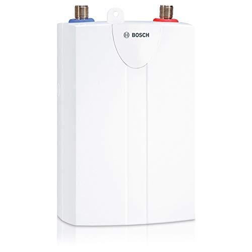 Bosch hydraulischer Kleindurchlauferhitzer Tronic 1000 4 T, steckerfertiger untertisch Durchlauferhitzer, robust für alle Wasserhärten, Energieklasse A, 3,5 kW