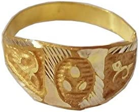 Certified Solid 22K/18K Yellow Fine Gold Triple Dots Design Kids Ring Size-1 Available In 22 Carat And 18 Carat Fine Gold For Gifts,Kids,Childrens,Baby Boy,Baby Girl,Infant,Celebrations & Regular Use