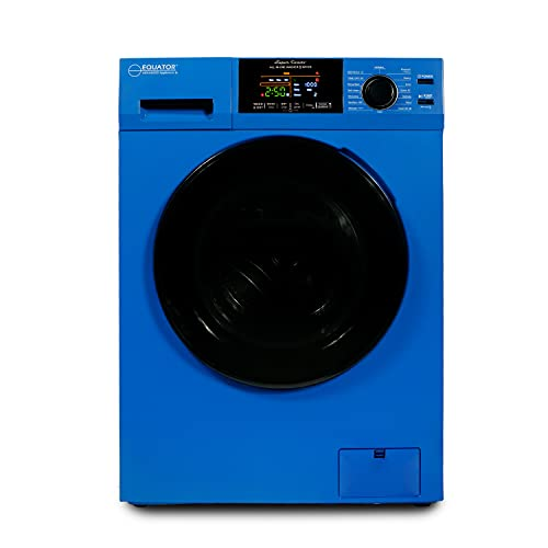 18 lbs Combination Washer Dryer with Sanitize, Winterize, Vented/Ventless Dry- 2021 Model (Blue)