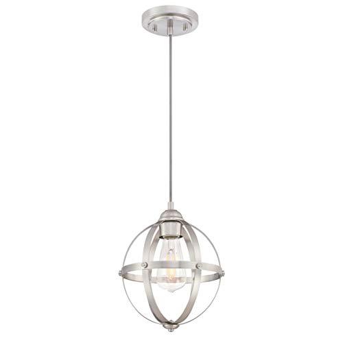Westinghouse 63620 Luminaria Colgante de Interior de una lámpara, Acabado en níquel Cepillado