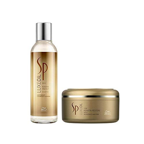 WELLA SP System Professional Luxe Oil Duo Keratin Protect Shampoo 200ml + Keratin Restore Mask 150ml