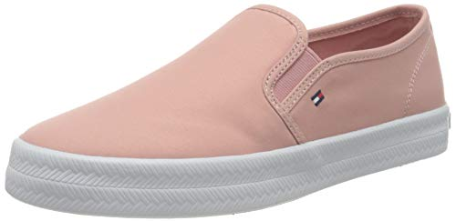 Tommy Hilfiger Damen Slip On Essential Nautical Slipper, Beruhigendes Rosa, 38 EU