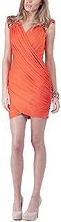 Bariano - Crossed Gather Jersey Dress (BXD49 - Orange Size 6)