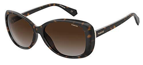 Óculos de Sol Polaroid PLD 4097/S 086 LA 58 - Dark Havana/Marrom Gradiente Polarizado
