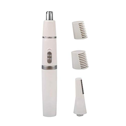 HJTLK Nose Eyebrow Hair Trimmer Set, Precision Facial Hair Groomer Electric Nose Ear Hair Remover for Women Men (Without Battery)