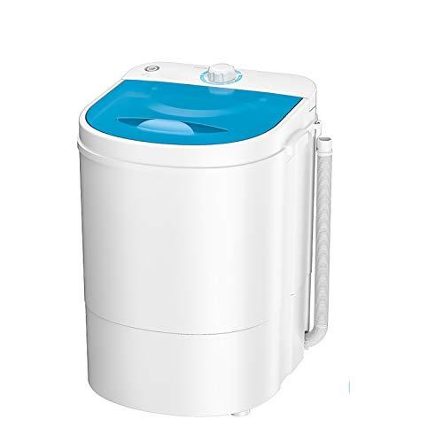 NEHARO Mini Lavadora Ropa Interior para niños pequeños Cubo de Barril único Hogar Semi-automático Mini Lavadora Dormitorio para Dormitorio Individual (Color : White, Size : 34x34x49cm)