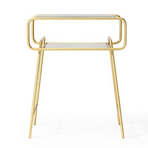 Beistelltisch Industrial Style Couchtisch modernen minimalistischen Schlafzimmer Nachttisch Schmiedeeisen Rahmen solide Unterstützung Schlafzimmer/Flur/Büro