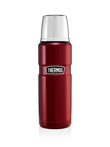 Thermos King thermoskan/thermosfles, 0,47 l, roestvrij staal, rood