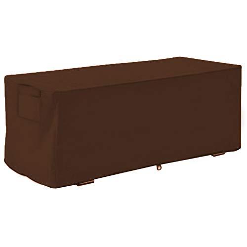 Couverture de boîte de Pont, Housse de Coffre de terrasse imperméable et résistante aux UV,Housse de Protection pour boîte de Rangement en Tissu Oxford, 123x62x55cm (Marron) (sans boîte)