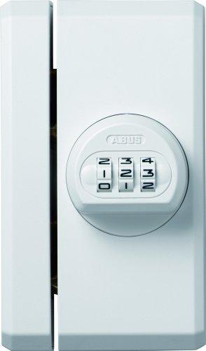 ABUS Fenster-Zusatzsicherung FTS106 AL0145 - Fensterschloss mit individuell einstellbarem Zahlencode - ABUS-Sicherheitslevel 10 - 26118 - Weiß