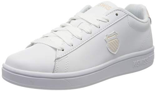 K-Swiss Mädchen Court Shield Sneaker, Weiß (White/Pearl 104), 35.5 EU