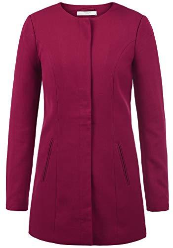 ONLY Maggie Damen Mantel Blazermantel Lange Übergangsjacke, Größe:M, Farbe:Red Plum