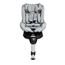 Group 0+ 1 car seat, spins full 360°, easy in and out as seat fully rotates Extended rear-facing (erf), suitable rearward facing from birth to 18kg/4 years, suitable forward facing from 9kg to 18kg/4 years Secured in the car with isofix connectors, 5...