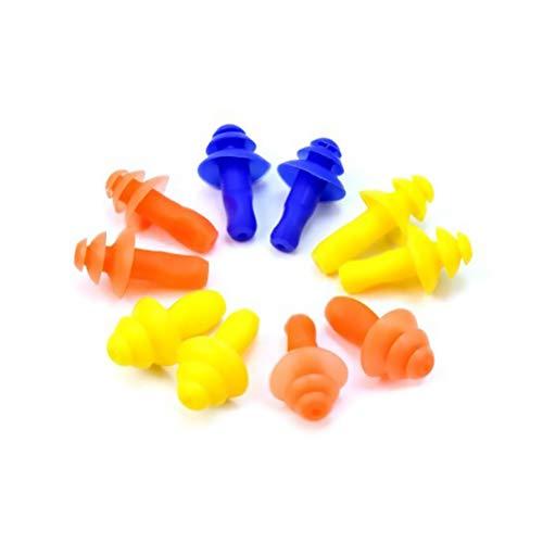 Isuper 5 Pares de Tapones para los oídos Natación Natación Mushroom Enchufe de oído de Silicona Suave Protector Impermeable Herramienta de Color al Azar
