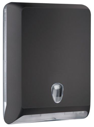 MAR PLAST Dispenser distributore carta asciugamani n. 830   Colore Nero   Porta carta asciugamani piegati a
