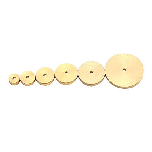 Calibre Circular de latón Macizo de Cuero de 6 tamaños para Accesorios de artesanía en Cuero