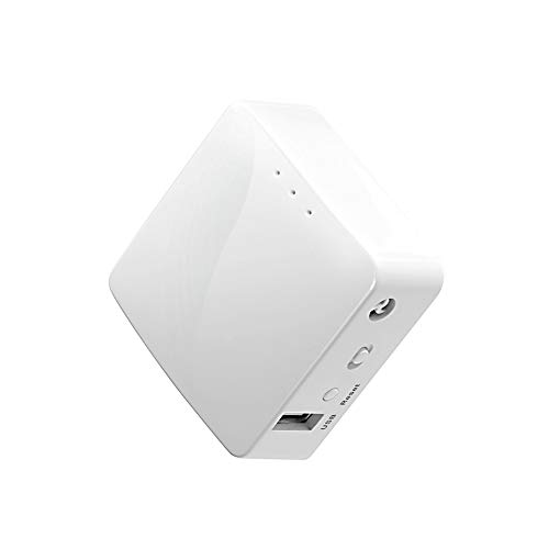 GL.iNet GL-AR150 Mini Travel Router, Wi-Fi Converter, OpenWrt Pre-installed, Repeater Bridge, 150Mbps High Performance, OpenVPN, Tor Compatible, Programmable IoT Gateway