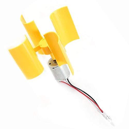 buenos comparativa LHKJ DIY Motor de hoja de turbina de viento vertical Mini generador de viento modelo educativo LED y opiniones de 2021