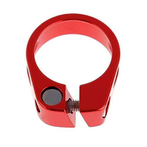TBoxBo Abrazadera de tubo de bicicleta Abrazadera de tubo de bicicleta Sujetador de 34,9 mm hueco sentado, poste de asiento Clip de tubo para bicicleta de montaña (rojo B£
