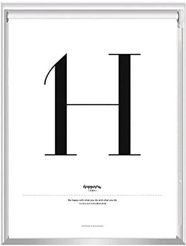 Weiß Blackout Roller Rollos/Jalousien Letter H Design for Home/Wohnzimmer/Schlafzimmer/Büro, 60cm / 80cm / 100cm / 120cm / 140cm Breite (Size : 80x200cm)