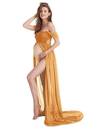 AYMENII Vestidos de gasa de maternidad para sesión de fotos fuera del...