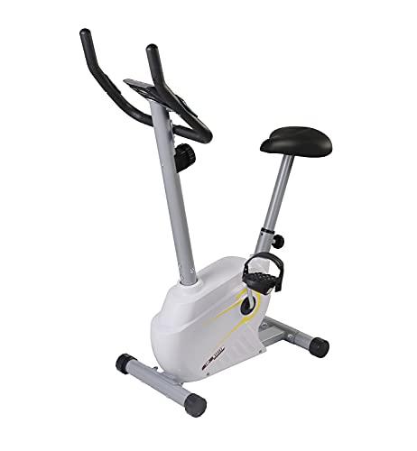 TOP SPORT Bicicleta de ejercicio plegable con disco magnético de 7 kg, 8 niveles de resistencia magnética con sensor de pulso, ciclismo suave y silencioso, máquina de entrenamiento