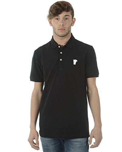 Versace Collection Men's Medusa Logo Regular Fit Pique Polo Shirt Black