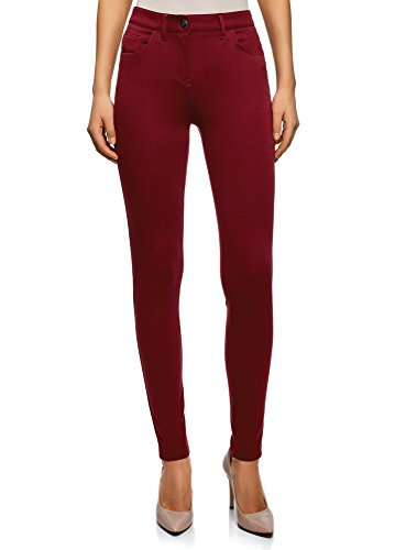 oodji Ultra Mujer Pantalones de Punto Ajustados