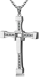 Fast and Furious Dominic Toretto's Diamond Cross Pendant Chain Necklace for Men