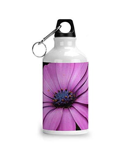 Cheeky Chaps Clothing Botella de agua deportiva de aluminio rosa azul flor hermosa flora botánica